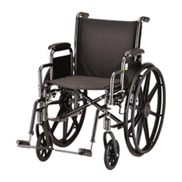 "Image of 18"" Steel Wheelchair Detachable Desk Arms and Footrests 9"
