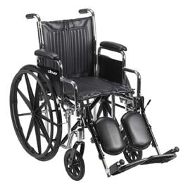 Drive Medical :: Chrome Sport - Dual Axle 16  w/Detachable Full Arms & SF's
