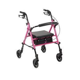 Drive Medical :: Breast Cancer Awareness Adjustable Height Rollator