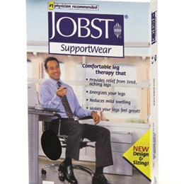 BSN - Jobst :: Jobst For Men 8-15 Small Over-The-Calf Dress Sock Black