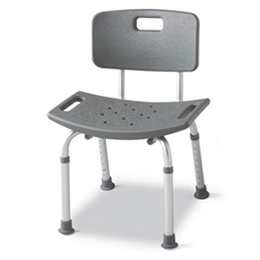 Image of Aluminum Bath Bench with Back 2