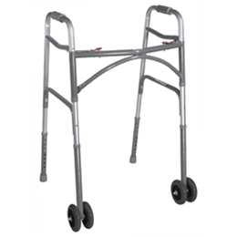 Drive :: Bariatric Aluminum Folding Walker, Two Button