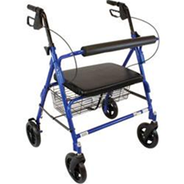 Roscoe Medical :: Bariatric Rollator with Padded Seat