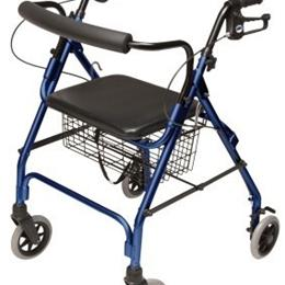 Image of 4-Wheel Rollator Walker Walkabout Lite GHP-RJ-4300 1