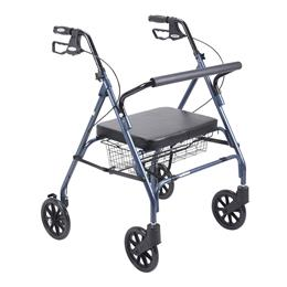 Drive Medical :: Heavy Duty Bariatric Walker Rollator with Large Padded Seat