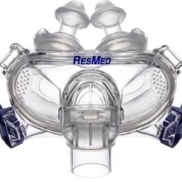 ResMed :: Mirage Liberty™ full face mask frame system with large cushion and large pillows– no headgear