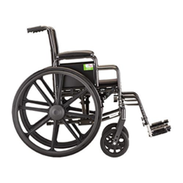 "Image of 20"" Steel Wheelchair with Detachable Desk Arms and Footrests 3"