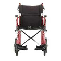 Image of 19 inch Transport Chair with 12 inch Rear Wheels - 352B 1