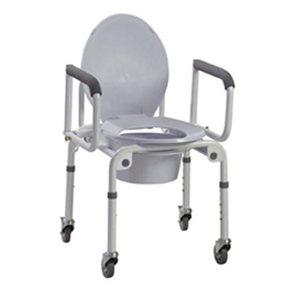 Drive :: Steel Drop-Arm Wheeled Commode with Padded Arms