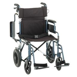 "Image of 19"" TRANSPORT CHAIR WITH 12 INCH WHEELS"