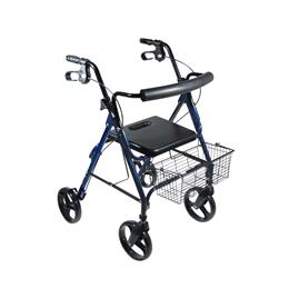 "Drive Medical :: DLite Walker Rollator with 8"" Wheels and Loop Brakes"