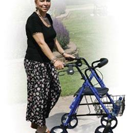 Drive Medical :: D-Lite Rollator Aluminum Blue With Loop Brakes T/F
