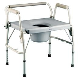 Invacare :: Bariatric Drop-Arm Commode