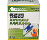 Blue Metallic Knuckle Bandages - Blue Metallic, Knuckle Bandages, Adhesive