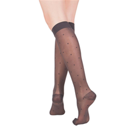 Airway Surgical :: 1782 TRUFORM Ladies' Sheer Dot Pattern Knee High Sock