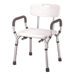 Essential Medical Supply :: Deluxe Shower Bench w/Back and Padded Arms