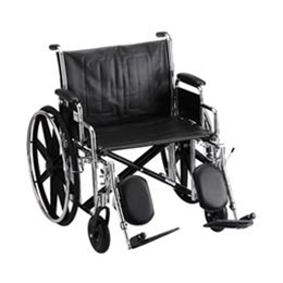 "Nova Medical Products :: 24"" STEEL WHEELCHAIR WITH DETACHABLE ARMS AND ELEVATING LEG RESTS"