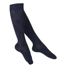 Image of 1074 TOUCH Ladies' Compression Argyle Pattern Knee Socks 3