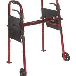Drive Medical :: Deluxe Folding Travel Walker Red