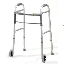 Image of YOUTH DUAL-RELEASE FOLDING WALKER WITH WHEELS 1