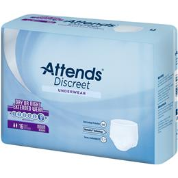 Image of APPNT20 - Attends Discreet Underwear Day/Night Extended Wear, Classic Fit, Medium, 16 count (x4) 1