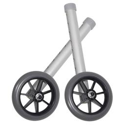 Drive Medical :: Walker Wheels 5  Fixed With Rear Glide Caps (pair)