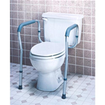 Toilet Safety Frame - The Carex Toilet Safety Frame B35800 bolts directly the toilet t
