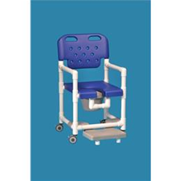Image of Elite Shower Chair Commode with Slideout Footrest