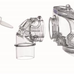 Image of Mirage Liberty™ full face mask complete frame assembly, large – no cushion, no pillows, no headgear 2