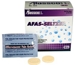 AFAS-Seltzer - 50 Tablets/Box - Relieves acid indigestion, heartburn and minor aches and pains.