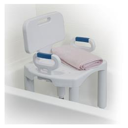 Image of Bath Bench With Back And Arms 3