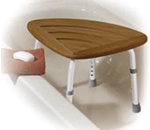 Bath Bench Teak wood seat :: This teak bath stool from Drive Medical is the perfect accessory