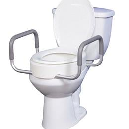Image of Elevated Toilet Seat w/RemArms For Regular Toilet Seat T/F KD