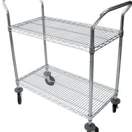 Image of CART UTILITY 2 SHELVES 18WX30L CHROME