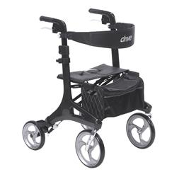 Drive Medical :: Nitro Elite CF Carbon Fiber Walker Rollator, Black