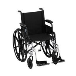 "Nova Medical Products :: 18"" LIGHTWEIGHT WHEELCHAIR W/ DESK ARMS AND FOOTRESTS - 7180L"