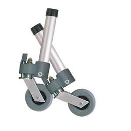 Drive Medical :: Comb. Swivel/Fixed Wheels 3  w/Lock and Rear Glides (pr)