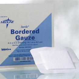 "Image of GAUZE BORDER 4""X4"" 2.5""X2.5""PAD STERILE"