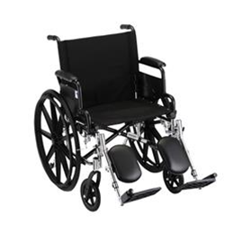 "Nova Medical Products :: 20"" LIGHTWEIGHT WHEELCHAIR W/ DESK ARMS AND ELEVATING LEG RESTS - 7200LE"