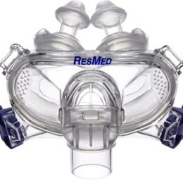 ResMed :: Mirage Liberty™ full face mask frame system with large cushion and small pillows– no headgear