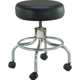 Revolving Adjustable-Height Stool with Round Footrest