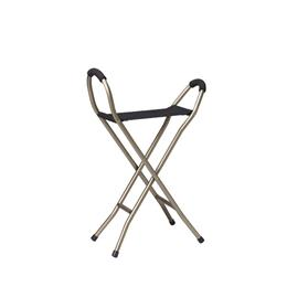 Image of Folding Lightweight Cane With Sling Style Seat 2