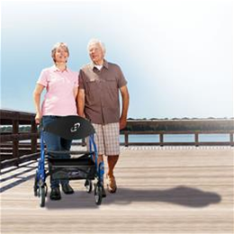 Image of Airgo® Fusion 2-in-1 Side-Folding Rollator & Transport Wheelchair