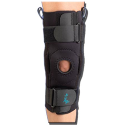 Image of AKS™ with Metal Hinges and Straps - Neoprene Knee Support 2