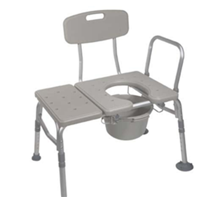 Image of COMBINATION PLASTIC TRANSFER BENCH/COMMODE