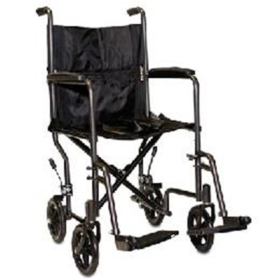 "Image of ProBasics Steel Transport Wheelchair 19"" 1"