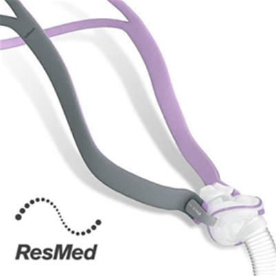 Image of ResMed AirFit™ P10 For Her Nasal Pillows Mask Complete System 1
