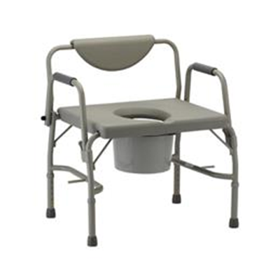 Image of Heavy Duty Commode W/ Drop Arms & Extra-Wide Seat Model: 8583 2