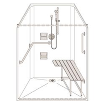Image of Barrier Free Shower SS24452R15BSRC