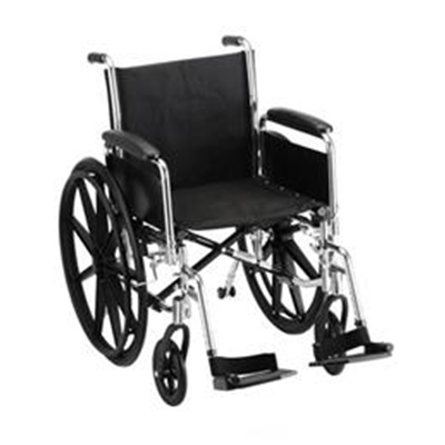 "Image of 18"" STEEL WHEELCHAIR DETACHABLE ARMS AND FOOTRESTS - 5181S 2"